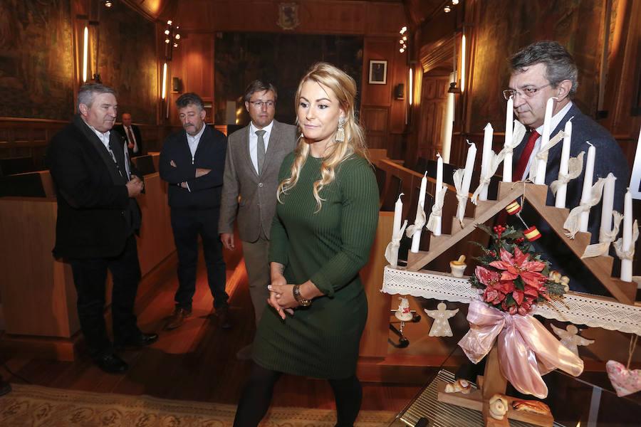 Lydia Valentín, homenajeada en la Diputación