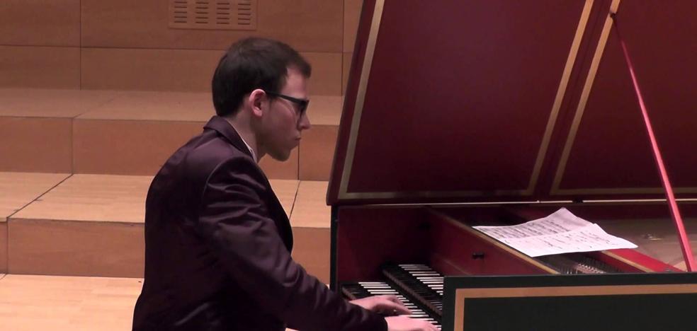 El clavecinista leonés Palanca recala en el conservatorio Cristóbal Halffter en la nueva temporada de Juventudes Musicales