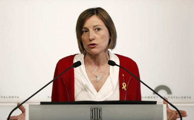 Forcadell prevé ser solo diputada y respeta las declaraciones de los presos