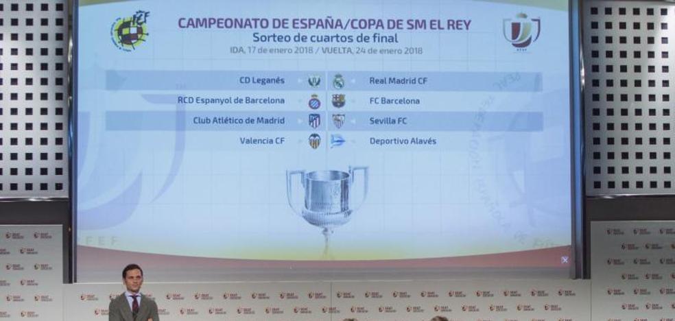 El Real Madrid se medirá al Leganés y el Barça al Espanyol en cuartos