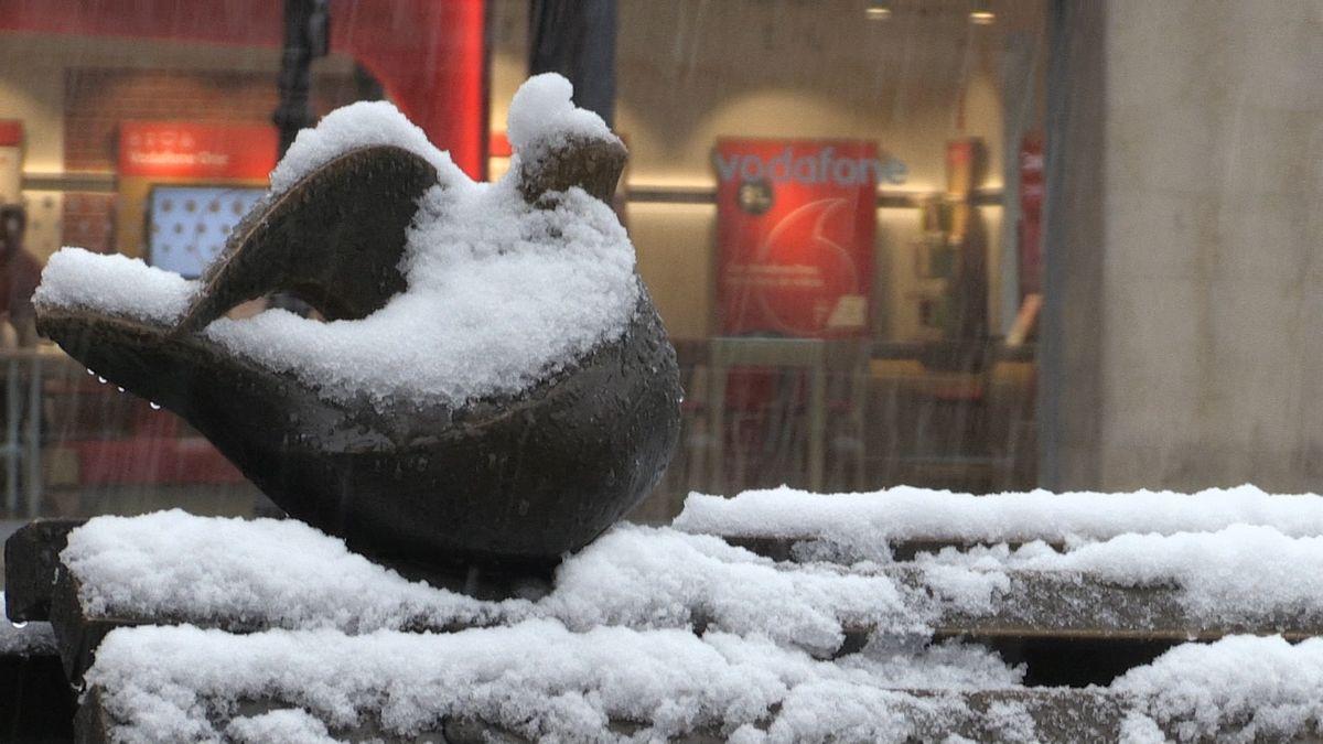 Las imágenes de la nieve en León capital