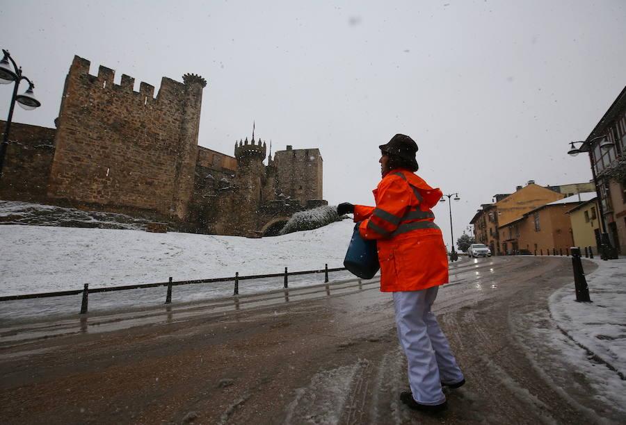 Nieva en El Bierzo