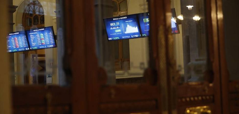 El Ibex reduce al mínimo su avance con la apreciación del euro