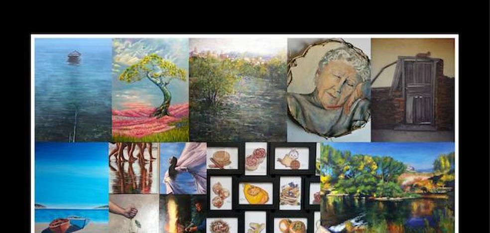 Un total de 22 artistas de la comarca llevan sus obras a la exposición anual de la Asociación de Pintores del Bierzo