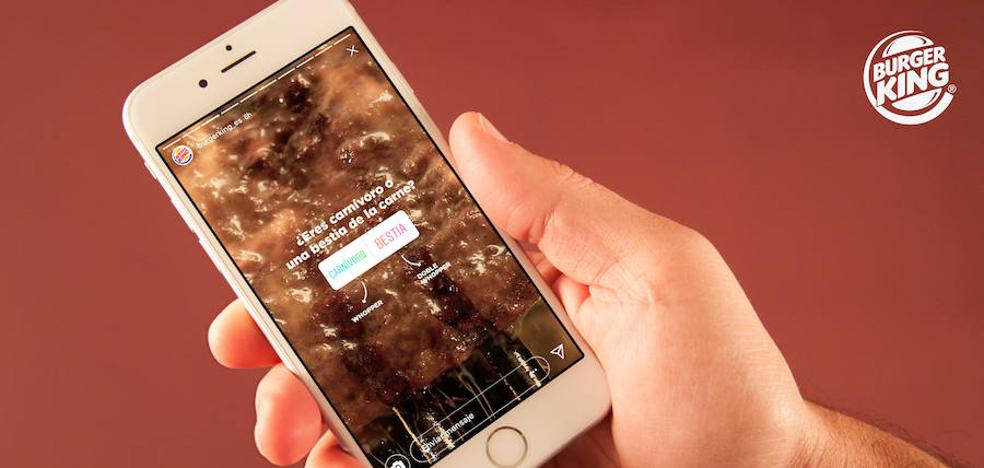 Burger King, la primera marca en España que permite realizar un pedido a través de Instagram Stories