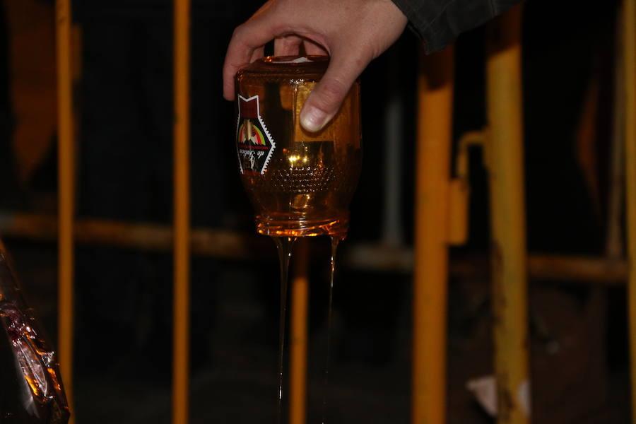 Tradicional hoguera de San Antón