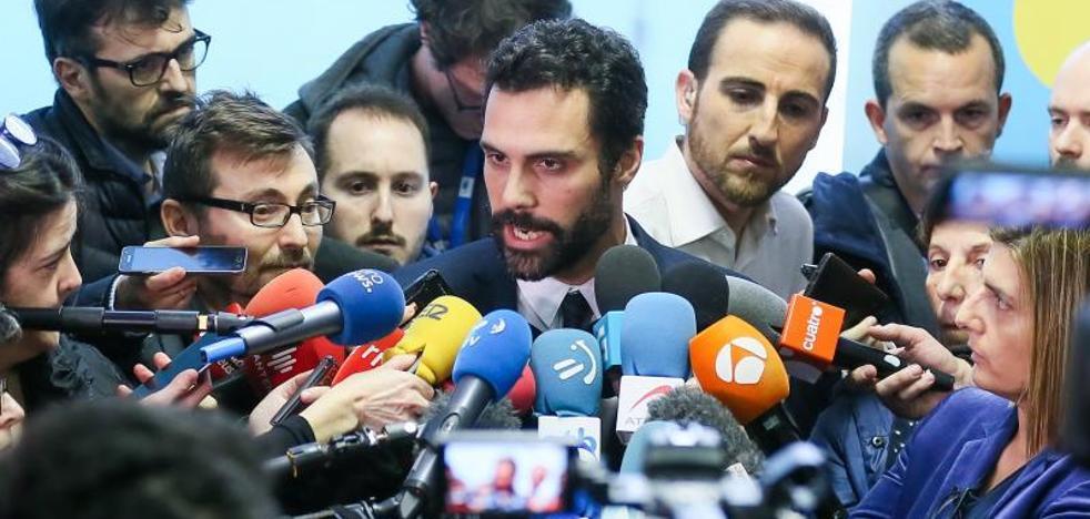 Torrent convoca el pleno de investidura de Puigdemont para el martes 30 a las 15.00 horas