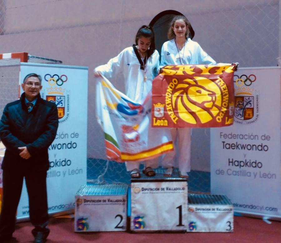 Fotografías del podio de taekwondo