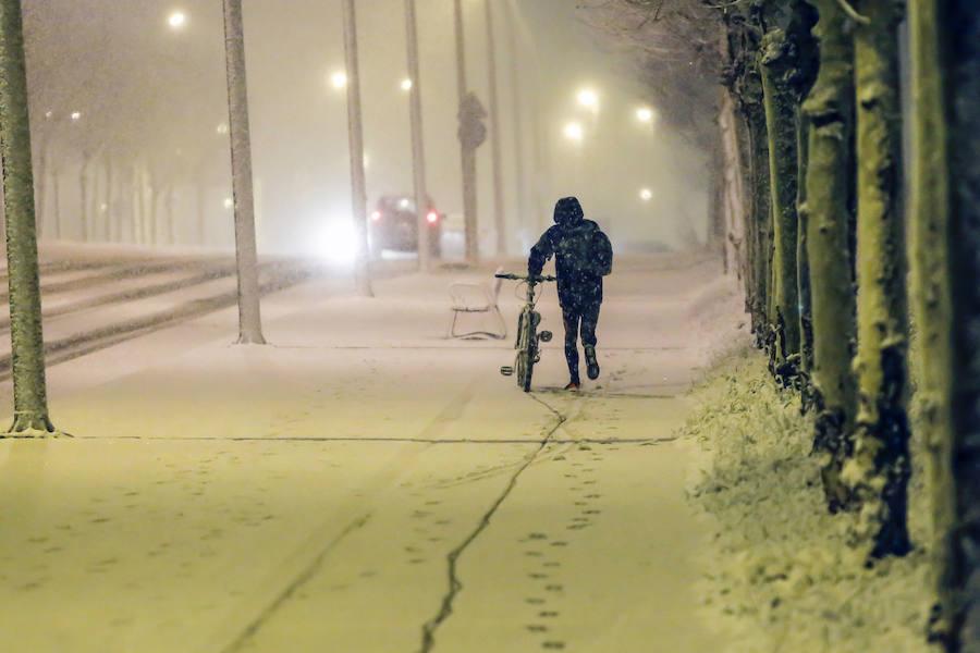 La nieve regresa a León capital