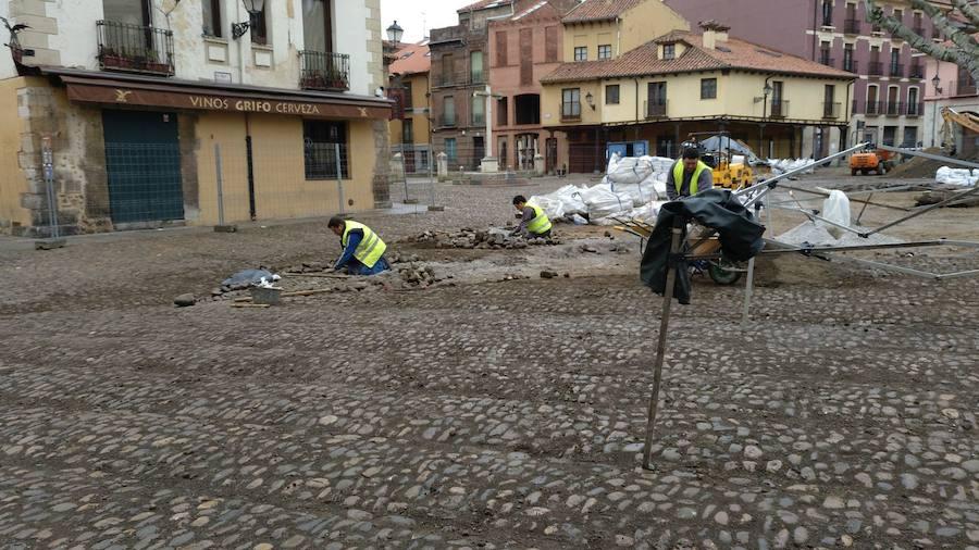 Avance de las obras de la Plaza del Grano