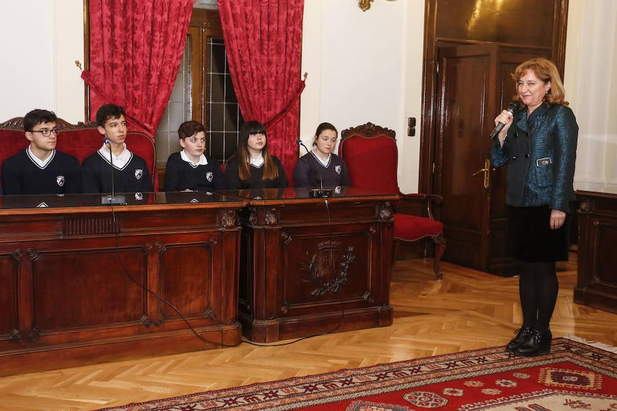 Juicio simulado del programa 'Educando en Justicia' en la Audiencia Provincial de León