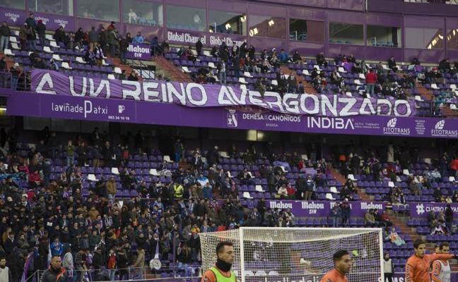 Antiviolencia propone una sanción de 10.000 euros al Valladolid por la pancarta del derbi
