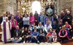 Jesús Divino Obrero cumple con su peregrinación anual a La Virgen del Camino