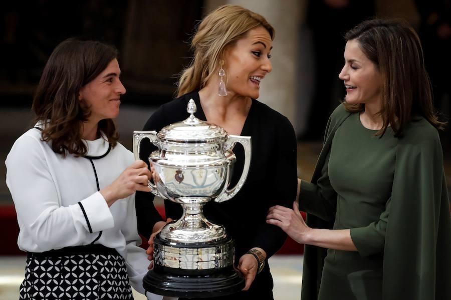 Lydia Valentín recibe el Prmeio Nacional del Deporte 2016