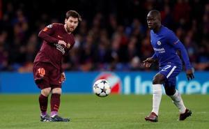 El Barça intenta frenar al Chelsea tras el descanso