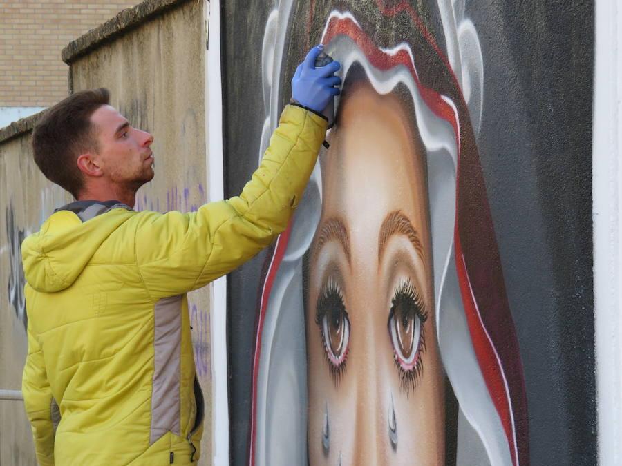 La Semana Santa en un mural