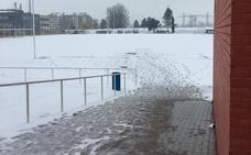 La nieve obliga a suspender de nuevo el partido de La Bañeza