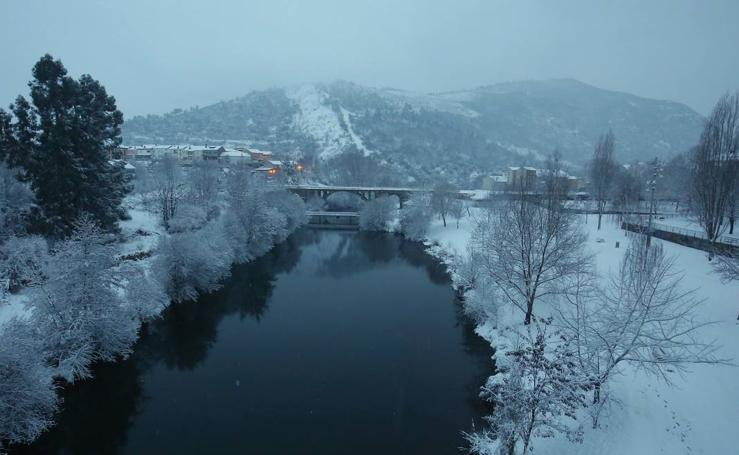 La nieve llega a todas las provincias de Castilla y León