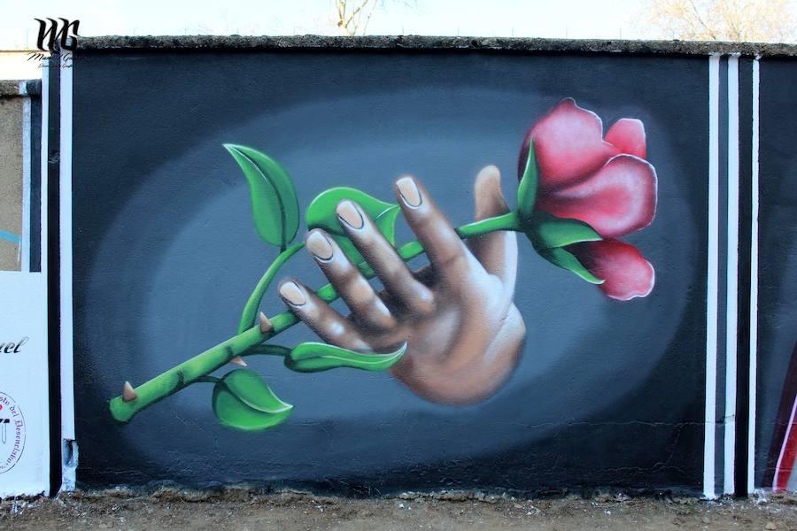 Así queda el mural de la pasión