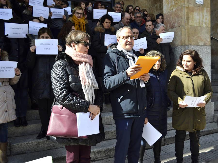 Protesta por la equiparación salarial en Justicia