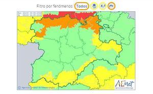 Alerta naranja por vientos de hasta 110 kilómetros por hora en Burgos, León y Palencia