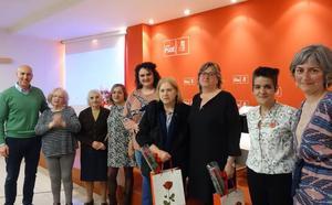 El PSOE homenajea a las mujeres que cumplen 25 años de militancia