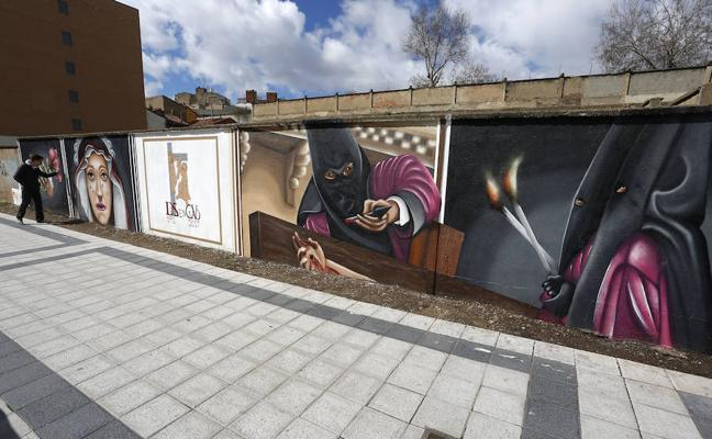Arte urbano para homenajear a la Semana Santa
