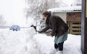 El temporal de nieve dejará espesores de 20 centímetros en la montaña leonesa