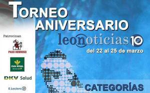 Ya hay cuadros del Torneo de Pádel del X Aniversario de leonoticias