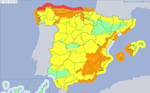 Activada la alerta naranja en León ante la previsión de nevadas y fuertes vientos