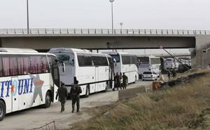 Hasta 1.700 personas han abandonado Ghuta Oriental este sábado
