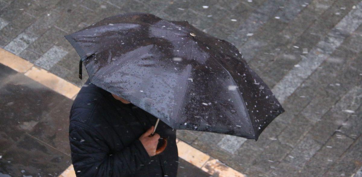 Nieve en León en pleno Viernes Santo