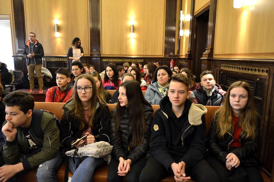 Recepción a los alumnos del Erasmus+