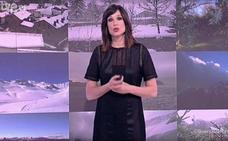 La presentadora de 'El Tiempo' de TVE, al borde del llanto para homenajear a un espectador leonés fallecido