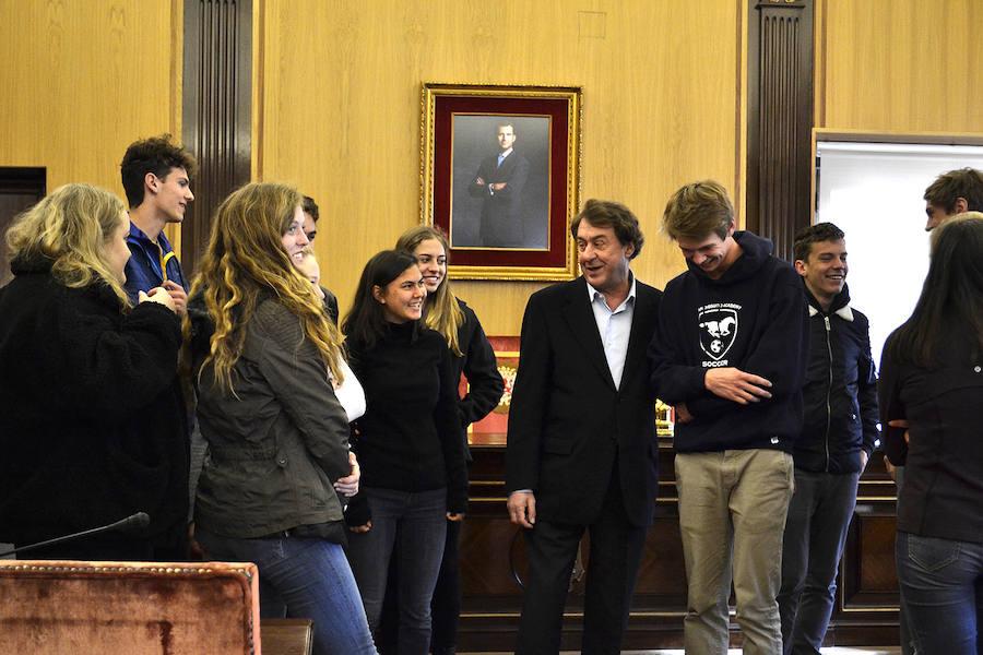 Una quincena de estudiantes estadounidenses, de intercambio en León