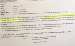 UPL denuncia que las Fuerzas Armadas hablan de Valladolid como 'capital de Castilla y León'