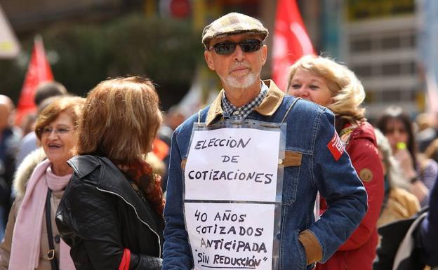 Protesta por una pensión digna.