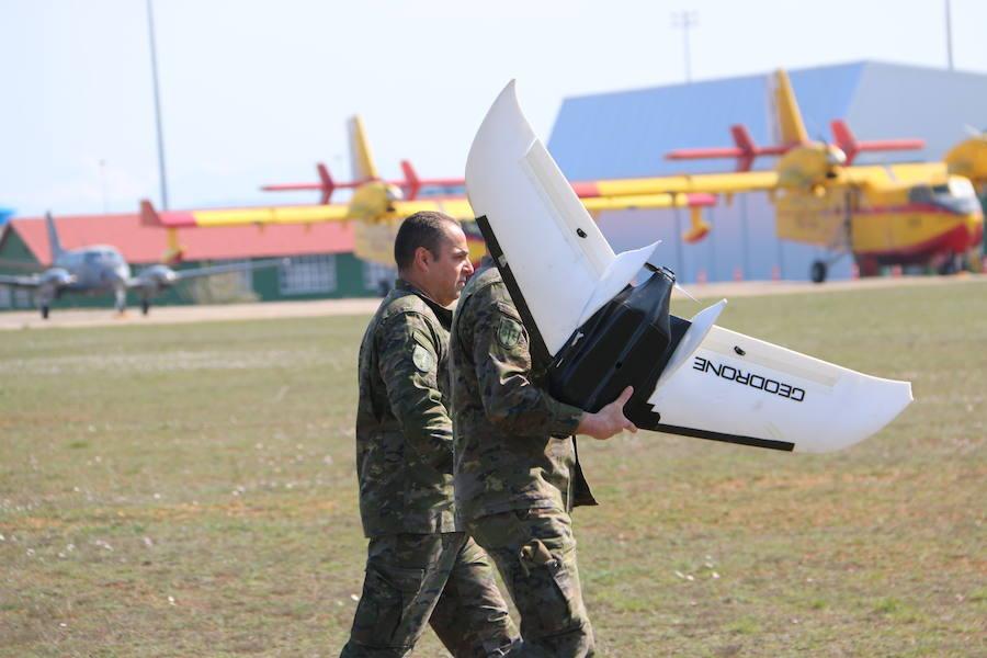 La OTAN prueba en León su primero geodron