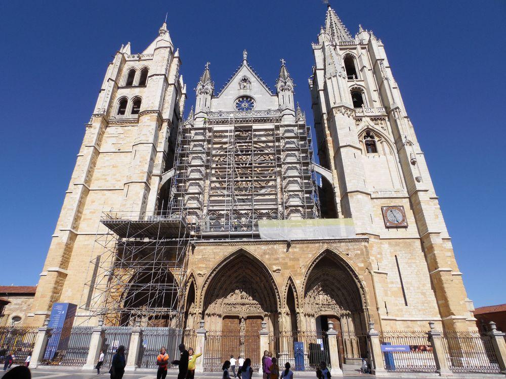 Andamio gigante en la Catedral