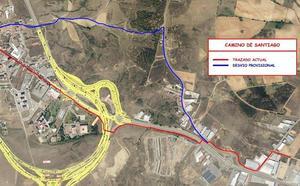 Las obras de la A-60 obligan a realizar un desvío provisional del Camino de Santiago
