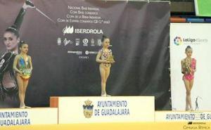 La leonesa Mariela Calvo se proclama campeona de España de gimnasia rítmica prebenjamín