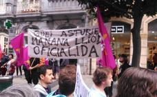 El leonesismo se une a la causa de la oficialidad del asturiano en una manifestación «histórica»