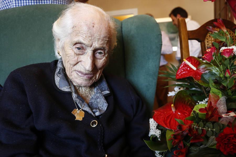 Áurea Álvarez cumple 109 años