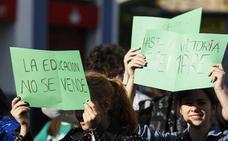La marea verde vuelve a teñir León para exigir un pacto educativo de calidad