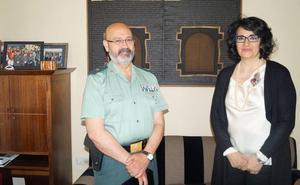 Teresa Mata destaca la amplia colaboración en la recepción al comandante del GRS de la Guardia Civil