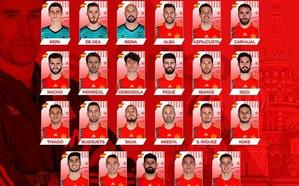 Así son los 23 de la lista de España