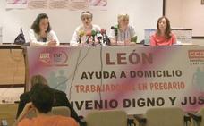 Las 1.200 trabajadoras del SAD, que atienden a 7.000 dependientes en León, irán a la huelga en junio