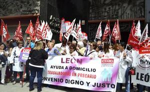 Las empleadas del SAD exigen un «convenio justo» para «dignificar la profesión no seguir con la precariedad laboral»