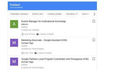 Google quiere buscarte trabajo