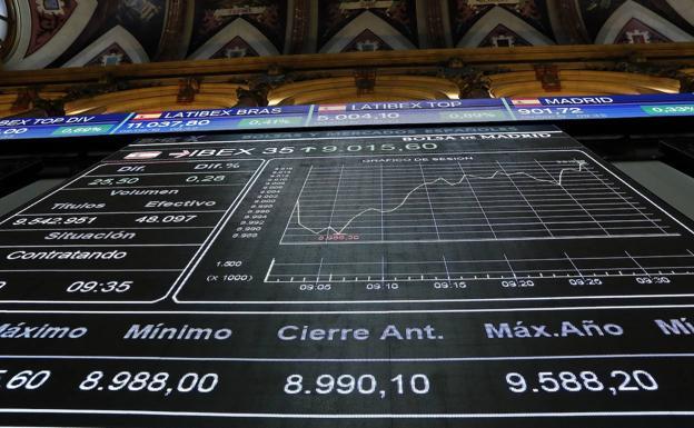 El Ibex despierta plano (+0,08%) y se aferra a los 9.000 puntos a la espera del BCE